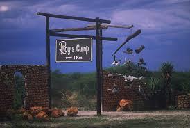 Einfahrt zu Roys Camp
