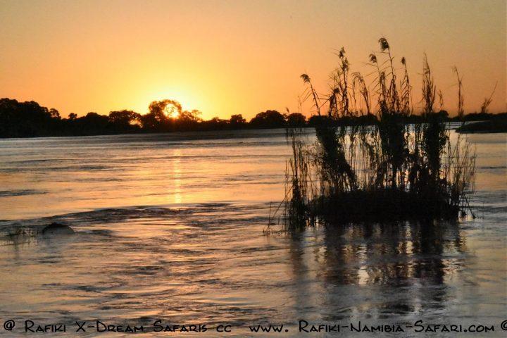 Namibia - Kwando Abendstimmung
