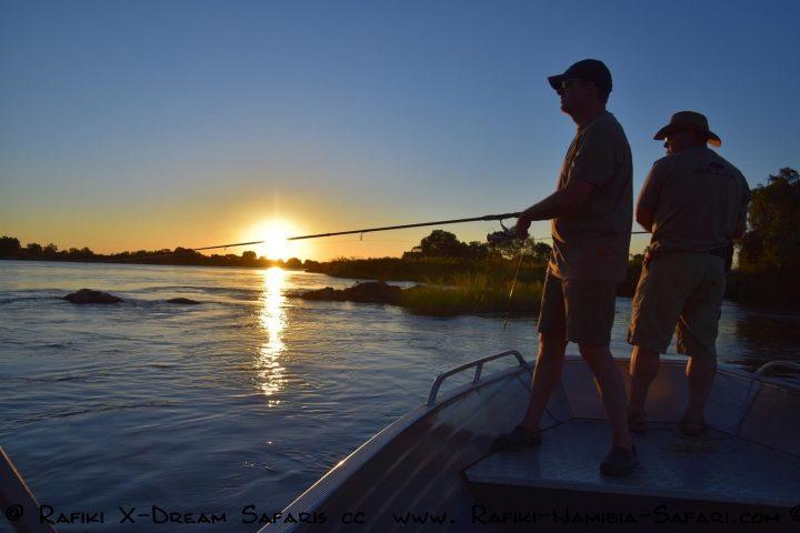 Fischen am Kavango - Namibia