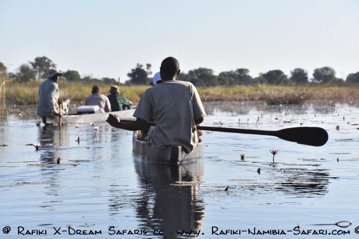 Bootsfahrt im Einbaum auf dem Kwando - Namibia