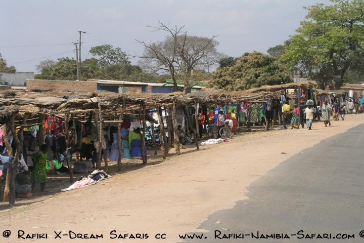 Strassenmarkt auf dem Weg nach Chipata - Sambia