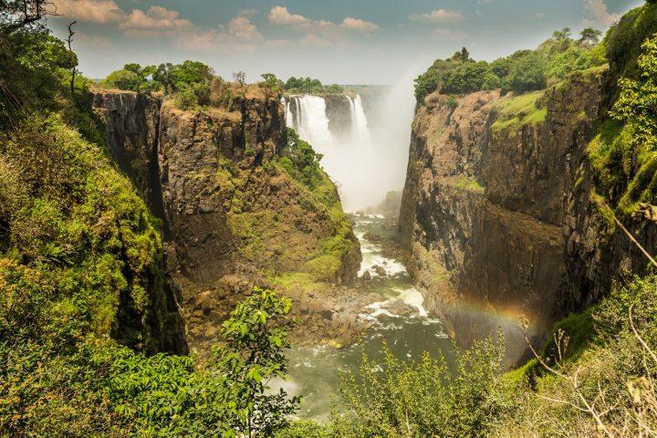 Blick auf die Victoria Wasserfälle