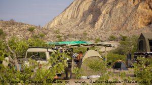Camp an der Khowarib Schlucht - Namibia