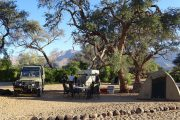 Campsite der White Lady Lodge am Brandberg - Namibia