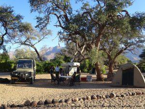 Campsite der White Lady Lodge am Brandberg - Namibia