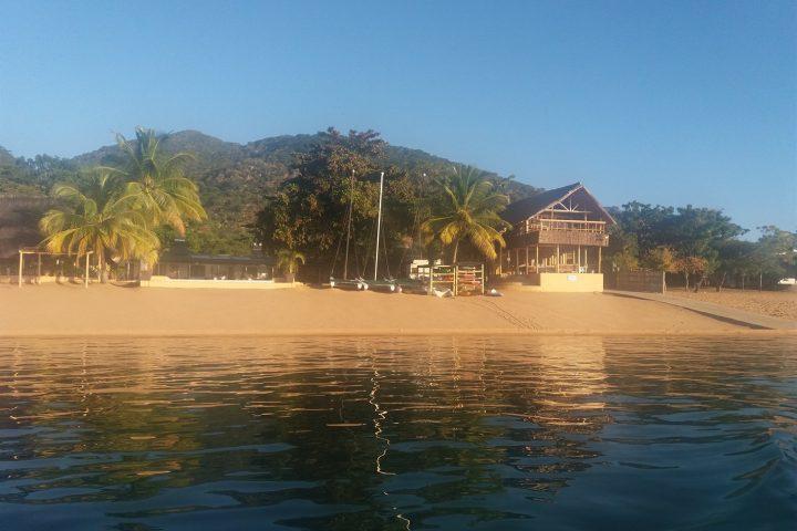 Blick auf Chembe von Malawisee