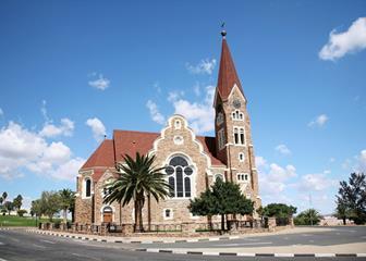ein Wahrzeichen von Windhoek die Christuskriche