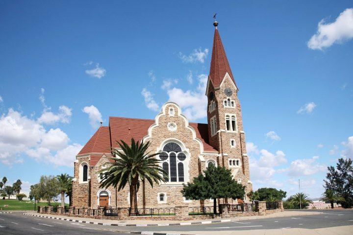 ein Wahrzeichen von Windhoek, die Christuskirche