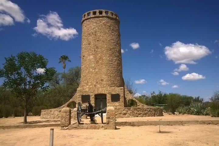 Ein Wahrzeichen von Omaruru - der Franke Turm
