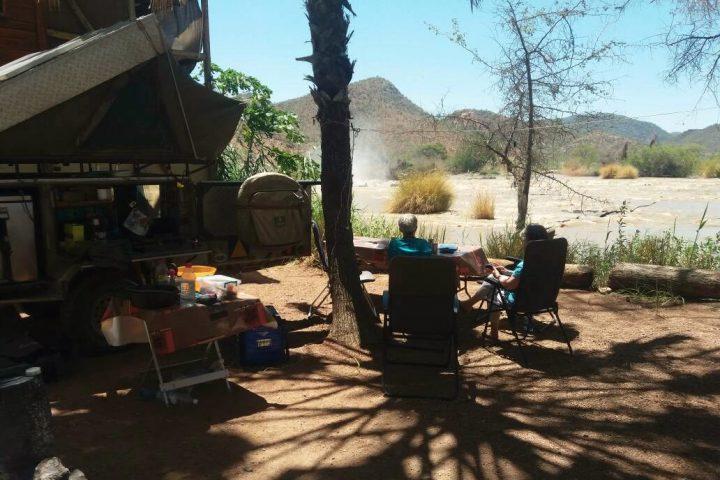 Campsite an den Epupa Wasserfällen