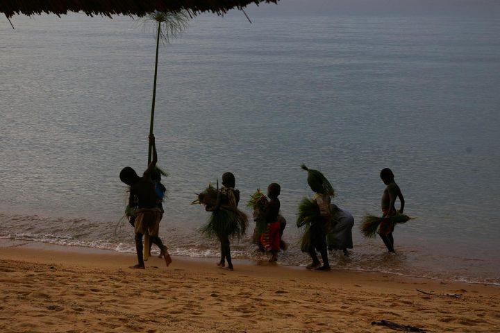 Kinder am Malawi See