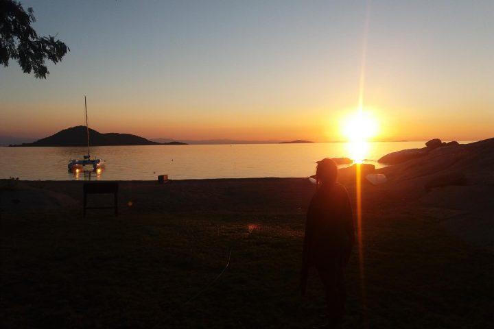 Sundowner am Malawi See
